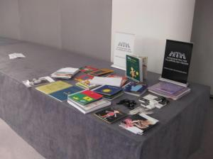 Photograph of exhibition of tactile picture books for children, on load from Sweden.